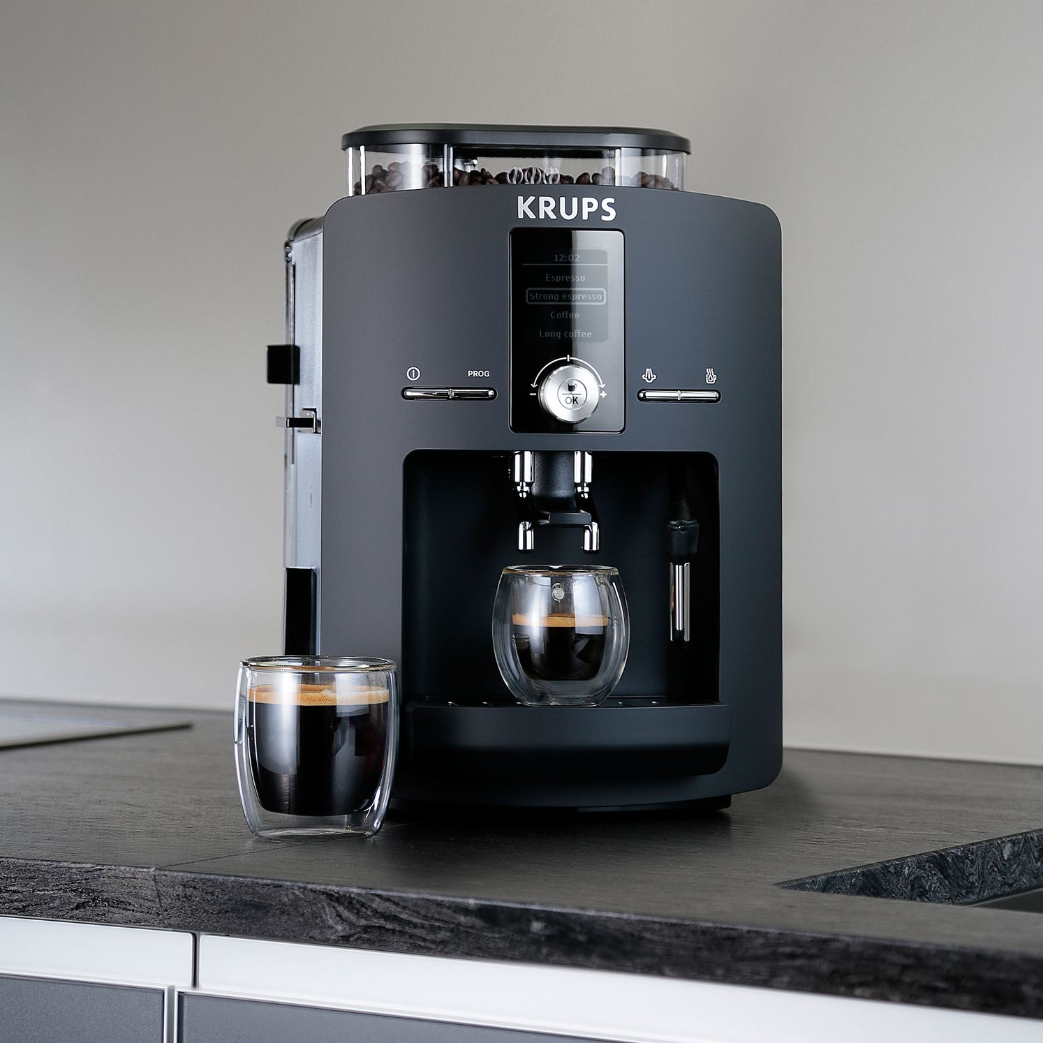 Italian Coffee Maker John Lewis : Buy KRUPS EA825840 Espresseria Bean-to-Cup Coffee Machine, Black John Lewis
